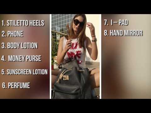 Whats Inside A models Bag!!
