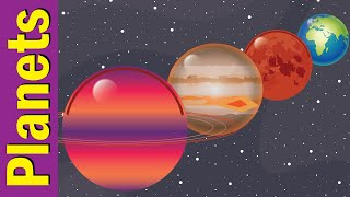 Planets & Solar System for Kids | Learn Planet Names | Fun Kids English