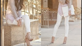 Trending Styles Of Wearing White Denim