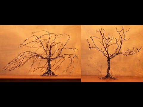 Alberi Bonsai in fil di ferro - Wire Bonsai Trees / DIY FILI METALLICI