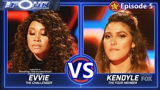 Kendyle Paige vs Evvie Mckinney  with Results  &Comments The Four S01E05 Ep 5