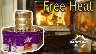 Homemade Tin Can Waste Oil burning Heater .. AWESOME OUTPUT ! ..