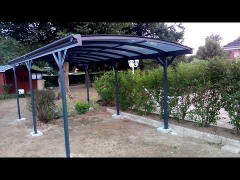 Mon Abri de Jardin - Carport en aluminium anthracite 3x5,05m et polycarbonate 6mm X-METAL