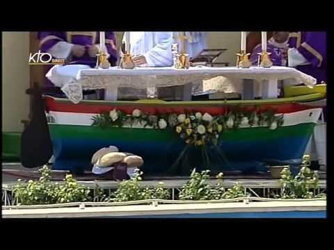 Visite du Pape François sur l'île de Lampedusa et messe