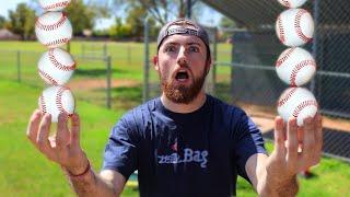 BREAKING BASEBALL WORLD RECORDS! IRL Baseball Challenge