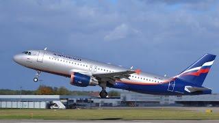 Взлёт из аэропорта Сочи. AirBus A320 ГТК Россия