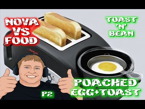 #STTG Tefal Toast 'N' Bean Perfect Poached Egg VLOG P2 #NOVAvsFOOD