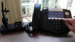 One Minute Wednesday - How to connect a headset to your Polycom SoundPoint IP Phone