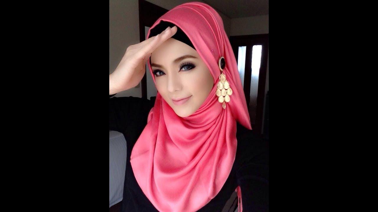 Hijab Tutorial 04 Cara Memakai Jilbab Pashmina Style Pink