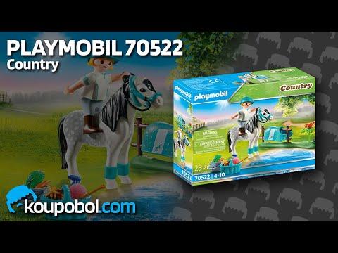 Vidéo PLAYMOBIL Country 70522 : Cavalière avec poney gris