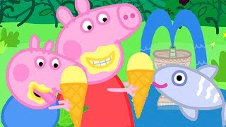 Peppa Pig Official Channel | Ice Cream Special - Peppa Pigs Day Out At The Fish Pond!