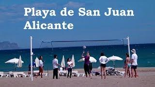 Alicante Playa De San Juan, Spain On Good Friday 2018