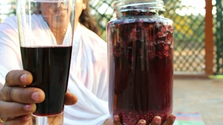 HEALTHY HOME MADE RED WINE   HEALTHY GRAPE WINE   VILLAGE FOOD