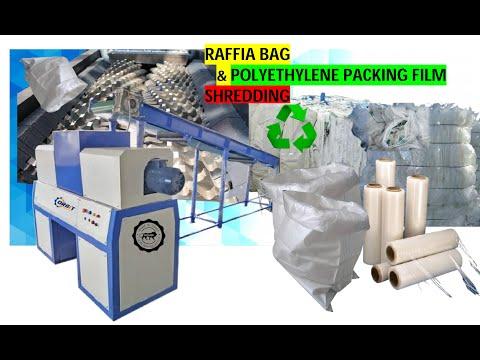 Twin Shaft Polythene & Cement Bag Shredder Machine
