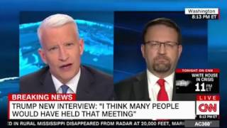 Anderson Cooper tries the calm approach against a feisty Sebastian Gorka Deputy to Trump