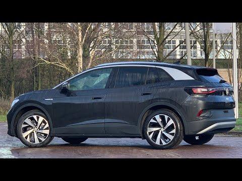 Volkswagen NEW ID4 First 2021 in 4K Mangan Grey metal 20 inch Drammen walk arond & detail inside