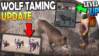 NEW PET WOLF TAMING UPDATE (LEVEL UP WOLVES + Their SKILLS!)   Grim Soul Survival 1.9