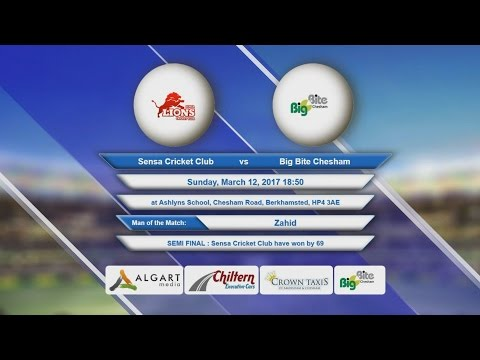 Video Sensa Cricket Club VS Big Bite Chesham - 12-Mar-2017