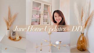 JUNE HOME UPDATES + DIY   Pampas Arrangements, New IKEA Lommarp, Spray Paint Upgrade