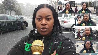 Beautiful 2020 Snow Fall In Metro Atlanta Stone Mountain Georgia Snow Day Carolyn Young Report Live