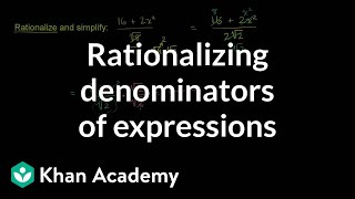 Rationalizing Denominators of Expressions