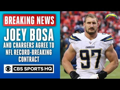 Joey Bosa and Chargers agree to an NFL record 5 year, $135M extension, per report | CBS Sports HQ