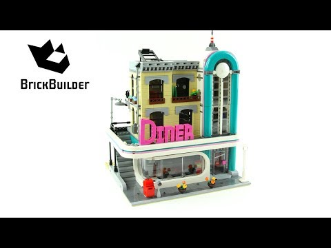 Lego Creator 10260 Downtown Diner - Lego Speed Build