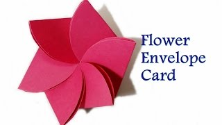 How to Make- Flower Envelope || Flower Card || Pop up Birthday Card || Craftastic