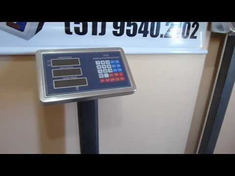 balança Digital plataforma industrial 300kg e 600 kg TCS
