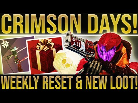 Destiny 2. CRIMSON DAYS RESET! Event Guide, Crimson Loot, New Weapon, Nightfalls, Vendor Items