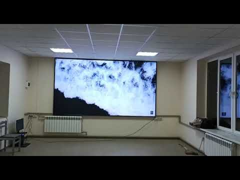Демонстрация работы светодиодного экрана в больнице г. Нальчик