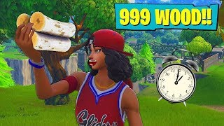 How long does it take to farm 999 wood in Fortnite?