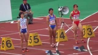 兒玉芽生 12.02( 3.0) 決勝 女子100m 高校総体陸上2017