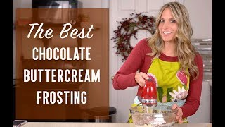 how to make buttercream frosting chocolate