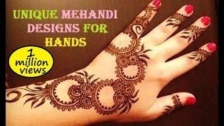 Unique Mehandi Designs for Your Hands - Mehndi Designs & Pictures