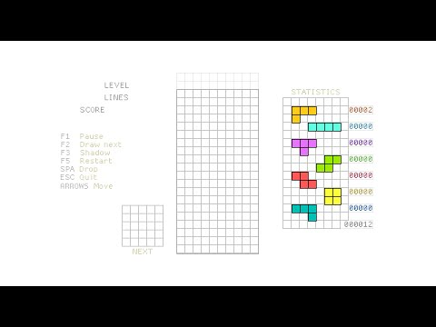Tetris #1 – HTML5 Game Programming Tutorial [javascript]