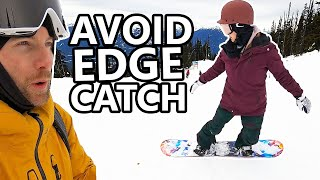 #49 Snowboard begginer – Avoid catching your edge