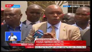 Laikipia Senatorial aspirant Maina Njenga makes his bold statement under KANU