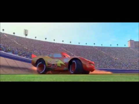 Cars 1 and 2 dirt road racing scenes - Doc Hudson Hornet and Lightning McQueen