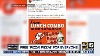 Get free pizza at Little Caesars!