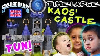 Kaos' Castle (Unbox + Stop Motion Skit + Timelapse Build) Skylanders Giants Mega Bloks Dark Conquest