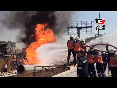 «الجيش والحماية المدنية» يسيطران على انفجار خط غاز التجمع الخامس