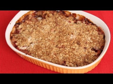 Video Rhubarb Crisp Recipe - Laura Vitale - Laura in the Kitchen Episode 578