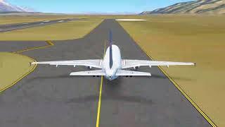 Infinite flight Global. Delta airline flight 2203 take off  Jackson Hole to salt Lake City airport.