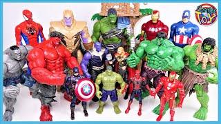 MARVEL AVENGERS HULK, IRON MAN, SPIDER MAN!! Defeat the Thanos & Villains - Charles Toy