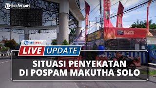 LIVE UPDATE: Kondisi Penyekatan di Pospam Makutha Solo, Pelat Luar AD Siap-siap Dicegat