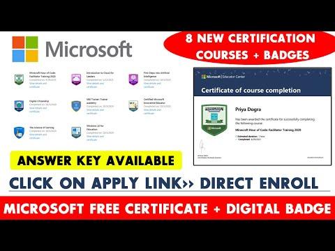 Microsoft 8 New Free Certification Courses | Microsoft Free ...