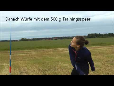 Speerwurf-Training mit Armbrustpfeil