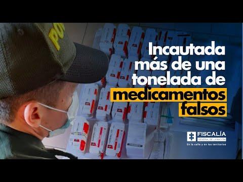 Fiscal Francisco Barbosa: Incautada más de una tonelada de medicamentos falsos