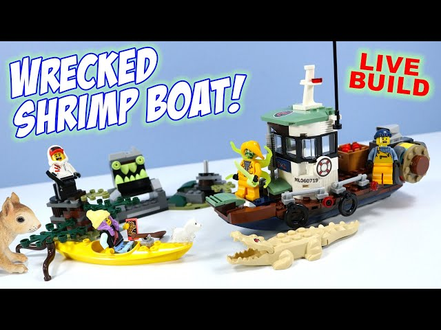 LEGO Hidden Side Wrecked Shrimp Boat LIVE Build